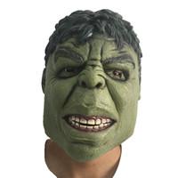 gigante de cosplay venda por atacado-Novidade Halloween Green Giant Latex Máscara Máscaras Hulk desenhos animados cabeça de borracha Carnaval Party Cosplay super-herói Bruce Banner Masquerade adulto