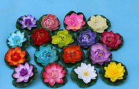 Wholesale Lotus Flowers Water - Water Lily Flowers Artificial Lotus Flower Real Touch Flowers Party Decorations Artificial Flowers PU Wedding Garden Swimming Pool Hotel