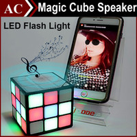 Magic Cube Colorful 36 LED Flash Light Bluetooth Wireless Mini Speaker Portable Super Bass Sound Subwoofer Handsfree para Smaetphone Tablet