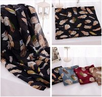 Wholesale Cheaper Feather Headbands - Free shipping Feather pattern Cotton Viscose Scarf Fashion shawl Head Wrap Cheap Price Hot Sale New Design Scarves Shawls Wholesale Retail