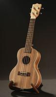 Wholesale Zebrawood Soprano Ukulele - Hot Sale Acoustic Zebrawood 21 inch Soprano Ukulele Original Italy String Hawaii Ukelele Guitar Musical Instruments