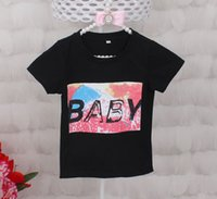 Wholesale Newest Children S Clothes - Children T shirt for Boys Clothing 2017 newest Baby Summer Tops&Tee Cotton Kids clothes toddler playsuit