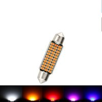 Wholesale Outlet Plate Double - Factory Outlet car LED reading lights 42MM 33smd 3014 ultra-bright license plate decoding double tip