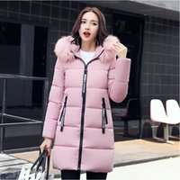 Wholesale Thick Korean Women Models - Winter The New Korean version Slim Female In the long section Down jacket Winter clothes Large size fashion coat 6 models Free shipping