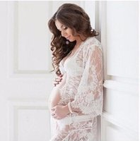 Le Couple Maternity Photography Props Lace Kleider Off White Mutterschaft Maxi Kleid Mama Gown Große Größe Schwangere Frau Kleid