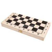 Wholesale Field Cases - Wholesale- Quality Draughts Checkers Set in Folding Board Wooden Case 29.5cm 64 fields