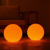 Wholesale Led Wireless Ball - 30cm 1pcs lot waterproof Wireless charging emitting led ball lamp Glowing plastic luminous Unbreakable led Globe night light