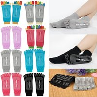 Wholesale Excercise Woman - Fitness Warm Excercise Gym Non Slip Massage Sport Five Toe Pilates Yoga Socks
