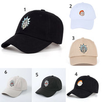 Wholesale Wholesale New Hats For Babies - New Rick and Morty Baseball hats cartoon Rick and Morty caps for baby Christmas gift C3054