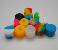 Wholesale Cheap Jars Containers - 50X FDA 2ML mini assorted color cheap Wax Jars Dab Round Silicone Container