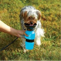 Wholesale Aqua Cups - Aqua Dog Portable No Spill Water Bottles Auto Dog Mug On the Go Dog Water Bowl Keeps Dogs Hydrated Walks Park Beach Road Trips Dogs Bottle