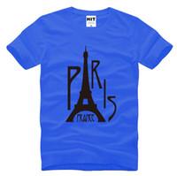 Wholesale Eiffel Tower T Shirt Men - WISHCART Eiffel Tower France Paris Creative Personality Mens shirts T Tshirt 2016 New Short Sleeve O Neck Casual T-shirt fashion Tee
