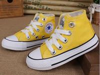 primeiro sapatos venda por atacado-2018 Classic Fashion All-Star canvas meninos meninas primeiro walker shoes neonatal fundo macio sapatos casuais esporte misturado 8 cores