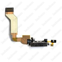 Wholesale Replacement Usb Dock Iphone 4s - New USB Dock Connector Charger Charging Port Flex Cable Replacement For iPhone 4 4s Free Shipping