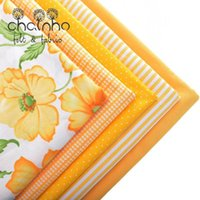 Wholesale Wholesale Fabric Sewing Material - 5pcs Cotton Fabric Tissue For Needlework Sewing Material Hometextile For Sheet Dress Cushion Doll Bags For 5pcs Yellow 40x50cm