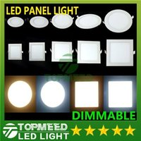 Wholesale Down Led Smd - Dimmable Led Panel Light SMD 2835 3W 9W 12W 15W 18W 21W 25W 110-240V Led Ceiling Recessed down lamp SMD2835 downlight + driver 100100