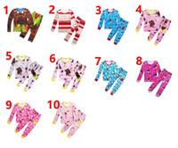 Wholesale Boys Plaid Pajamas - 2pcs lot Moana pajamas Sets Baby Boys Girls Autumn Toddler Kids shirt+pants Children Long Sleeve Anime Printed Pajamas Clothes Suits 3-10T