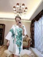 Wholesale Dress Flare Coat - women latest world fashion dresses skirt Jacquard weave Embroidery 4insect coat