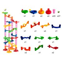 80pcs / set Blocs de Domino en Plastique Ballons d'Enfants Jeux de Course Intelligence Blocs de Construction et d'Empilage Education Jouet