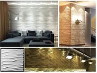 ingrosso pannelli murale decorativi 3d-Eco-friendly Materiale Leggero artistico Texture design Interni FAI DA TE Parete decorativo PVC 3D pannello murale