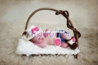Wholesale Cowgirl Hat Boots - Newborn Baby Gift Girl Cowboy Cowgirl Hat Pants Boots Set Baby Photography Prop Crochet Knitted Costume animal backpack