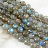 Wholesale 6mm Round Gemstone Beads - to win warm praise from customers Natural 6mm 8mm 10mm 12mm 14mm Labradorite Round Gemstone Loose Bead 15''AAA
