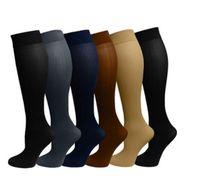 Wholesale Compression Socks Stockings - Compression socks for men and women Leg Socks Anti Fatigue Compression Stocking mens sports socks 6 colors