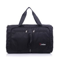 Wholesale Korean Large Fashion Bags - Sky Fantasy fashion foldable travel bag duffle nylon waterproof men youth Korean style corssbody ultralight large vogue fold tote