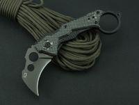 cuchillos karambit al por mayor-Quartermaster QTR-Z Karambit QTRM5TR Garra Cuchillo plegable táctico 3Cr13Mov 55HRC Mango de aluminio titanio Camping Caza Supervivencia EDC
