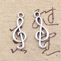 Wholesale Musical Note Necklace Silver - 200pcs Charms musical note 25*9mm Antique Making pendant fit,Vintage Tibetan Silver,DIY bracelet necklace