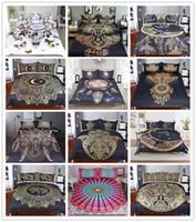 Wholesale Modern Pillow Shams - Golden Sun Moon Elephant Queen King Duvet Cover Set Dreamcatcher Vibrant Ethnic Tribal Bohemia 3 Piece Bedding Set with 2 Pillow Sham