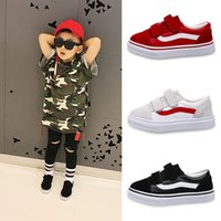 Wholesale Korean Fashion Shoes For Kids - 2017 new Korean children solid color canvas casual shoes boys girls white students shoes fashion sneakers for kids