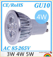 10pcs / lot GU10 E27 E14 3W MR16 4W 5W 9W 12W 15W LED de alta potencia de la lámpara del proyector del bulbo Downlight iluminación LED