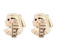 Wholesale Egypt Earrings - Earrings Studs Jewerly Fashion Women Vintage Gold Plated Alloy Egypt Head Portrait Earrings Jewelry Wholesale Drop Shipping ER504