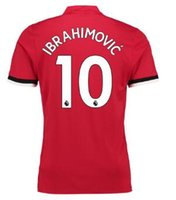 Wholesale Cheap Top Shirts - Thai Quality 17-18 Customized 10 Ibrahimovic ,6 Pogba ,9 Lukaku 27 Fellaini ,31 Matic Soccer Jerseys Shirts,Discount Cheap Soccer Wear Tops
