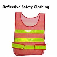 abrigo de tráfico al por mayor-Nuevo diseño Visibilidad Chaleco reflectante de seguridad Abrigo Chaleco de sanidad Tráfico Advertencia Ropa de seguridad Chaleco Chaleco de seguridad de trabajo A0239