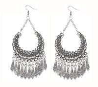 Wholesale Bohemian Retro - Earrings for women Ethnic retro palace style earrings Classical Bohemian droplets tassel earrings