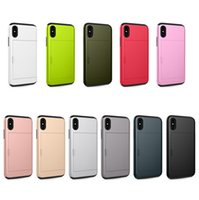 Wholesale Sgp Iphone Hard - For Iphone x Case Dual Layered Armor SGP Slot Card Hard PC Back Cover Case for Iphone x