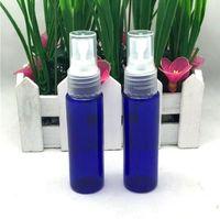 Wholesale Plastic Bottle Fine Mist Spray - Perfume Bottle Empty Plastic Fine Mist Spray Bottle 1 oz Pump Refillable Cosmetic Perfume Atomizer Perfect for Essential Oils 30ML (Blue)