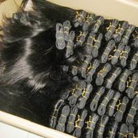iyi örgü demet toptan satış-Lima Peru Ucuz işlenmiş Perulu İnsan Saç Düz Örgü Uzatma 6 adet lot vizon demetleri Iyi kardeş