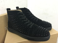 Wholesale cheap footwear for men - Cheap red bottom sneakers for men womens with Spikes black suede Luxury fashion casual men shoes ,2017 Designer leisure trainer footwear