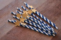 bprice-bprice prices - Navy and Gold Twinkle Twinkle Little Star Chevron Stripe Chevron Paper Straws party decorations wedding birthday bridal baby shower favors
