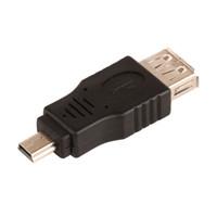 mini usb b otg toptan satış-ZJT33 USB 2.0 A Dişi Jack Mini USB B 5Pin Erkek Tak OTG Adaptör Bağlantısı