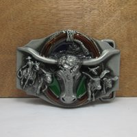 Wholesale Bull Buckles - BuckleHome bull head belt buckle rodeo belt buckle FP-02221 free shipping