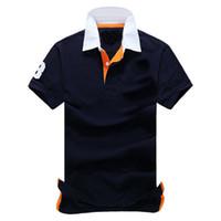 combinaisons orange achat en gros de-vente en gros 2017 hommes de haute qualité coton marque polos hommes polos rétro loisirs golf maillot de tennis / hommes polos