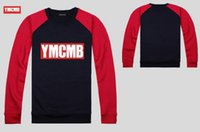 ymcmb hoodie großhandel-Hoodie Sweatshirt kostenloser Versand S-5 Xl YMCMB Hip Hop Mode Baumwolle Runde Kragen Männer Freizeit Sport Pullover