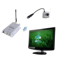 Wholesale Cmos Wireless Color Mini Camera - 1.2 GHz Wireless Receiver & Wireless Color 6LED IR Nightvision CMOS Mini Camera Wireless CCTV Camera Kit 208C freeshipping
