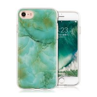 Capa de mármore Soft TPU Hard Pc Hybrid Case Tampa duradoura durável para iPhone 7 6s 6 Plus Opp Bag