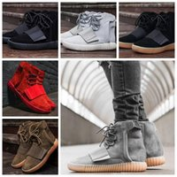 Wholesale Glow Dark Body - 750 Boosts Glow In The Dark Brown Kanye West Boosts 750 Running shoes Fashion Sneakers Boosts With Original Box