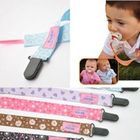 Wholesale Plastic Clip Holders - Baby Boy Girl Dummy Pacifier Soother Nipple Leash Strap Chain Clip Holder Baby Infant Girl Boy Dummy Pacifier children accessories